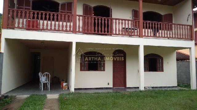 Casa mobiliada locação anual, com 2 quartos sendo um suite, com quintal e garagem